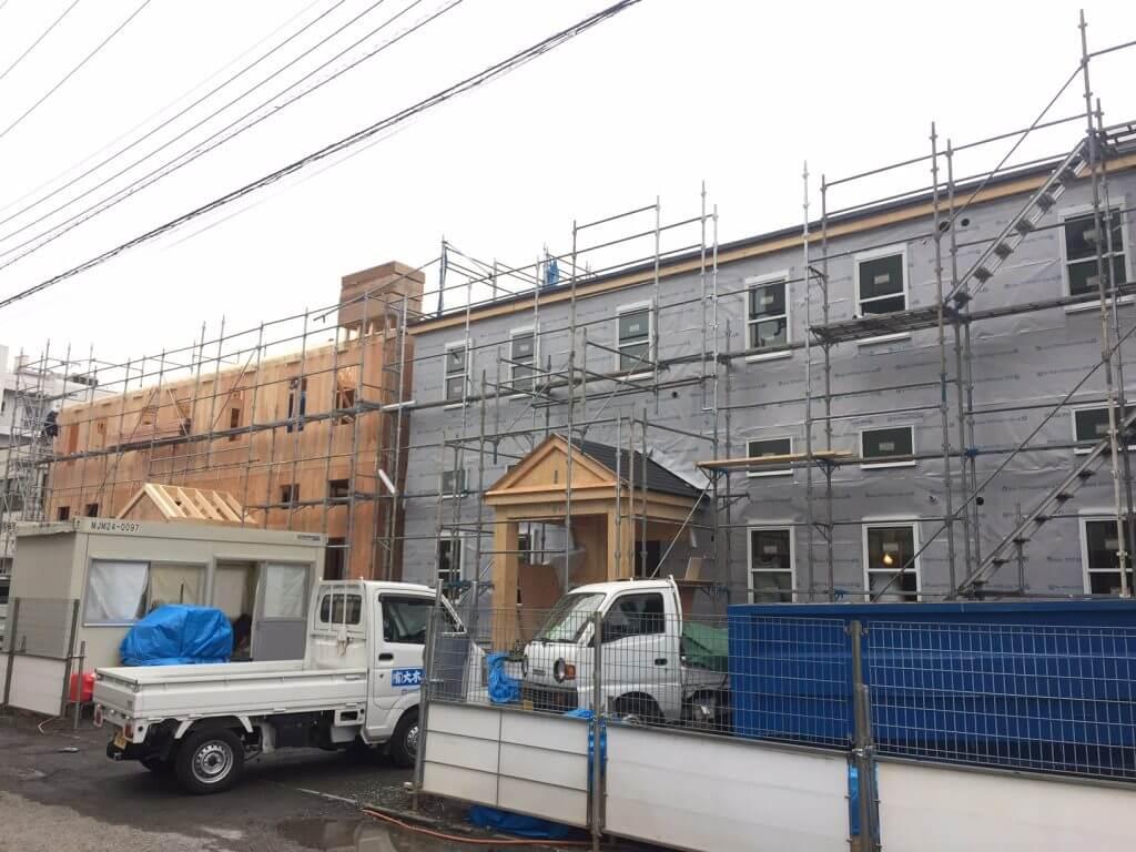 プリマグランデ 建築中 現場 地震に強い 2x4 洋館アパートメント