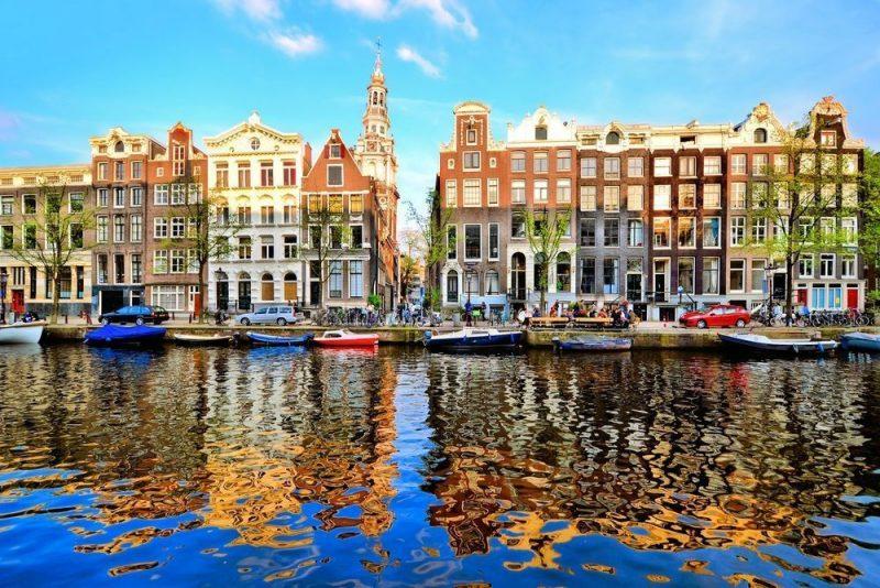 オランダ アムステルダムの街並み