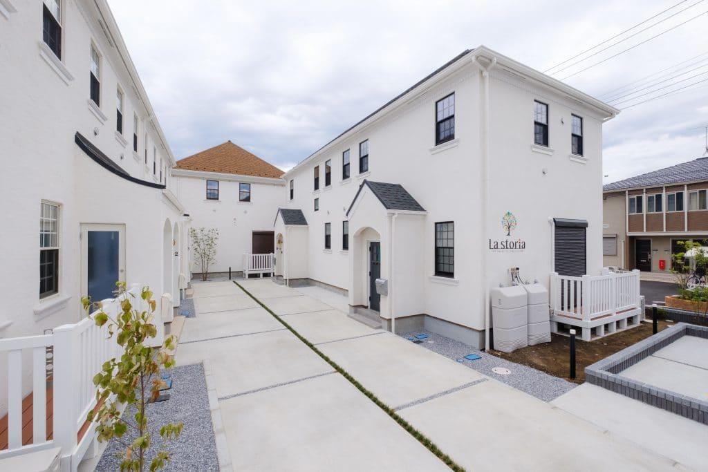 ファミリー向け戸建て賃貸アパート「ラストーリア双柳」の外観写真